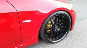 Work VS - XX Felge in 9x20 ET 32 mit Hankook Ventus S1 Evo Reifen in 235/30/20 montiert vorn mit folgenden Nacharbeiten am Radlauf: Kanten gebördelt Hier auf einem 3er BMW E90 320i (Limousine) Details zum Fahrzeug / Besitzer