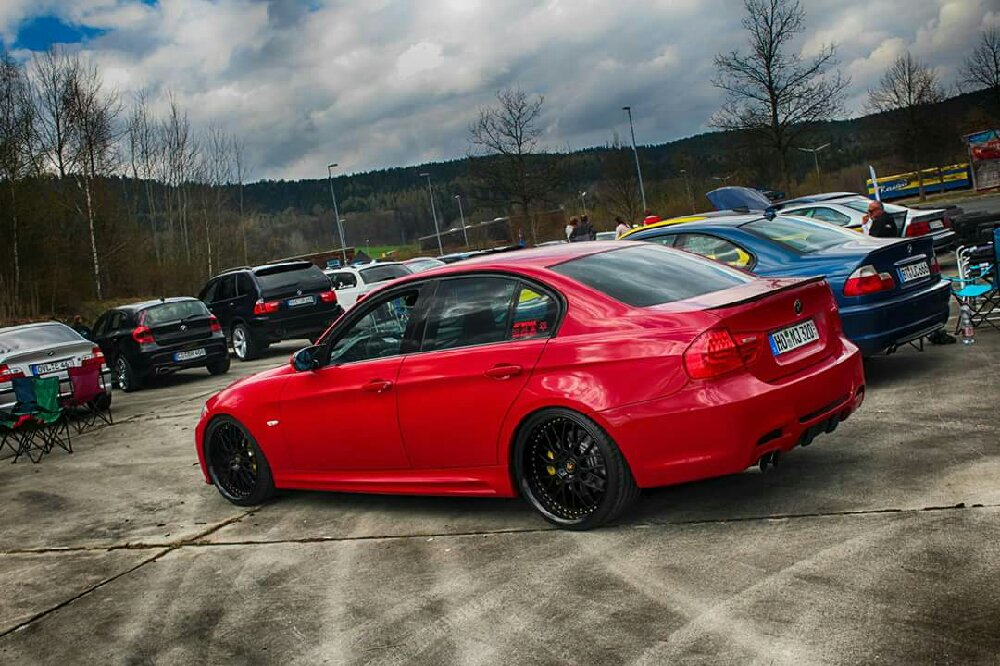 """Karmesinroter Performanceumbau - 20"""" Work ! - 3er BMW - E90 / E91 / E92 / E93"""