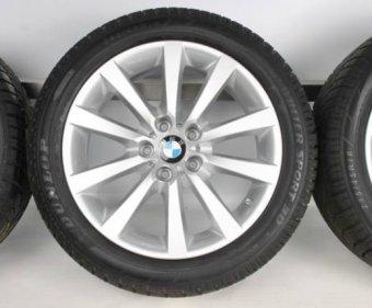 BMW V-Speiche 328 Felge in 8.5x18 ET 33 mit Goodyear Eagle Reifen in 245/40/19 montiert hinten mit 6 mm Spurplatten Hier auf einem 5er BMW F10 525d (Limousine) Details zum Fahrzeug / Besitzer