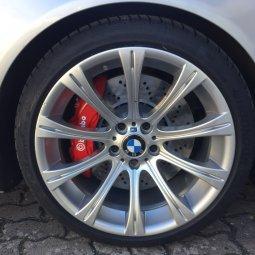 BBS BMW M166 M6 E63 Felge in 9.5x19 ET 17 mit Hankook K117 Reifen in 275/30/19 montiert hinten Hier auf einem 5er BMW E39 535i (Limousine) Details zum Fahrzeug / Besitzer