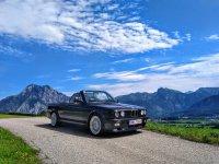 BMW E30 Cabrio, black diamond, M-Technik 1