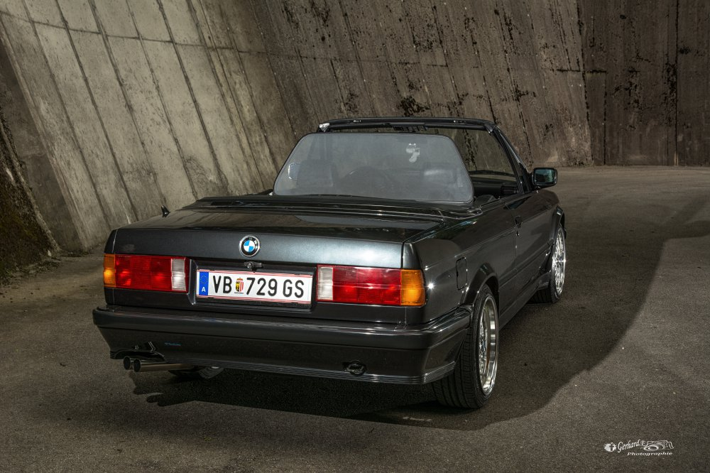 BMW E30 Cabrio, black diamond, M-Technik 1 - 3er BMW - E30