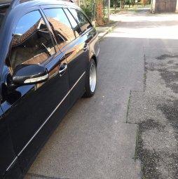 - Eigenbau - Verbreiterte Stahlfelgen Felge in 8.5x17 ET 25 mit Goodyear  Reifen in 245/45/17 montiert hinten Hier auf einem Fremdfabrikat BMW Mercedes keine Angabe (Kombi) Details zum Fahrzeug / Besitzer