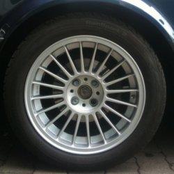 Alpina  Felge in 7x16 ET 28 mit Goodridge  Reifen in 205/50/16 montiert vorn Hier auf einem 3er BMW E30 325i (Cabrio) Details zum Fahrzeug / Besitzer