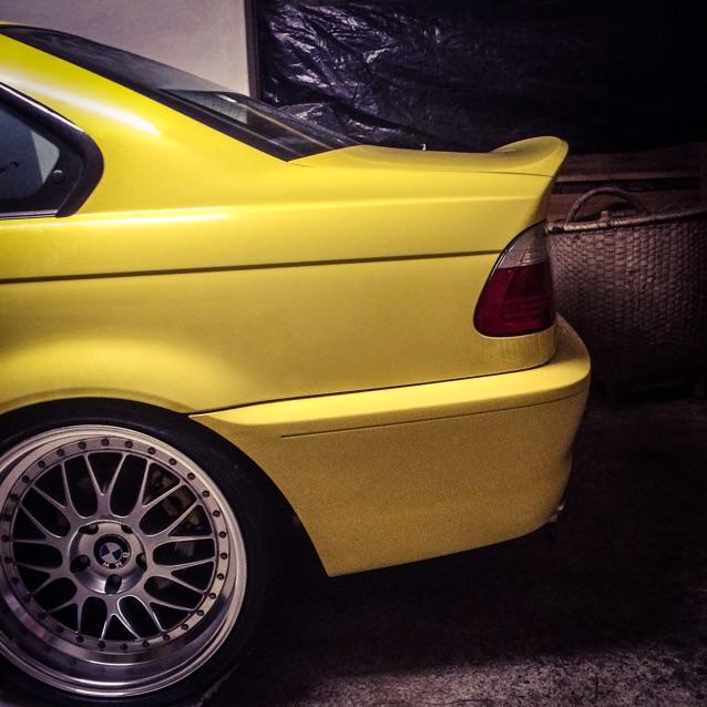 Dakargelbes e46 Coupe - 3er BMW - E46