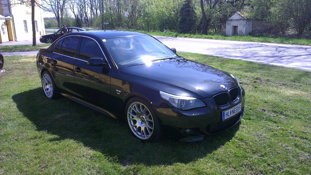 black 530d 5er bmw e60 e61 limousine tuning. Black Bedroom Furniture Sets. Home Design Ideas