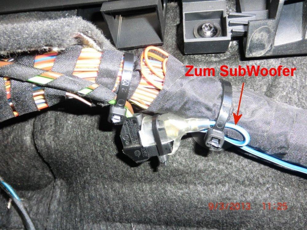 E61 Aktiver SubWoofer einbauen [ Fotos von CarHifi & Multimedia ...