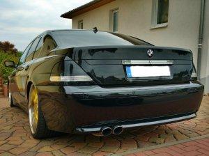 royal wheels  Felge in 10.5x22 ET 45 mit Continental Sport Contact Reifen in 295/30/22 montiert hinten mit 30 mm Spurplatten Hier auf einem 7er BMW E65 745i (Limousine) Details zum Fahrzeug / Besitzer