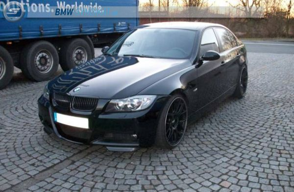 e90 325i 20 blackline 3er bmw e90 e91 e92 e93 limousine tuning fotos. Black Bedroom Furniture Sets. Home Design Ideas