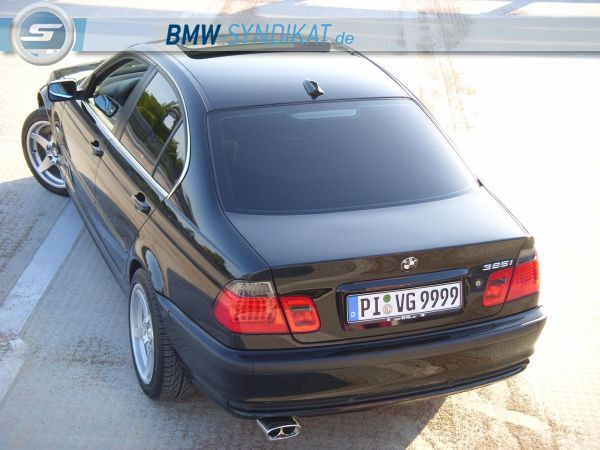 bmw e46 325ia black endlich tiefer 3er bmw e46. Black Bedroom Furniture Sets. Home Design Ideas