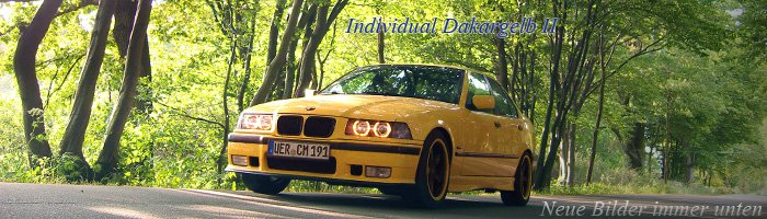 In Memory Of E36 Individual Dakargelb II '97 - 3er BMW - E36