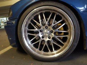 Dotz Mugello Felge in 8.5x19 ET 35 mit Continental Contact 5P Reifen in 235/35/19 montiert vorn Hier auf einem 3er BMW E46 328i (Coupe) Details zum Fahrzeug / Besitzer