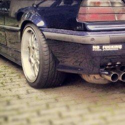 Rial  Felge in 9x17 ET  mit Falken  Reifen in 245/35/17 montiert hinten mit 20 mm Spurplatten und mit folgenden Nacharbeiten am Radlauf: geb�rdelt und gezogen Hier auf einem 3er BMW E36 M3 (Coupe) Details zum Fahrzeug / Besitzer