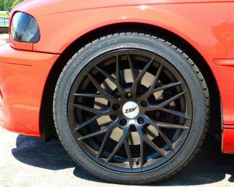 AEZ Antigua Dark Felge in 8x18 ET 30 mit Nexen N8000 Reifen in 225/40/18 montiert vorn Hier auf einem 3er BMW E46 330i (Coupe) Details zum Fahrzeug / Besitzer