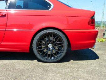 AEZ Antigua Dark Felge in 8x18 ET 30 mit Nexen N8000 Reifen in 225/40/18 montiert hinten Hier auf einem 3er BMW E46 330i (Coupe) Details zum Fahrzeug / Besitzer