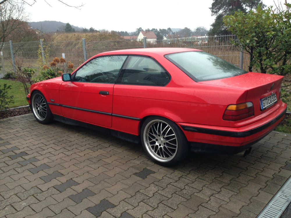 e36 316i coupe hellrot 3er bmw e36 coupe tuning fotos bilder stories. Black Bedroom Furniture Sets. Home Design Ideas
