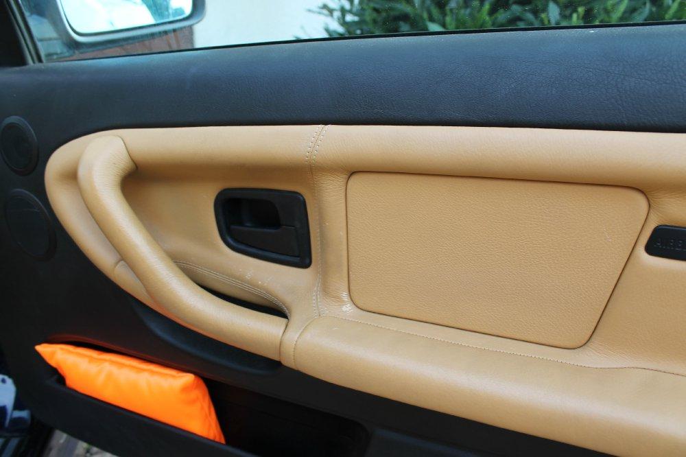 e36 cabrio lederaufbereitung safrangelb 3er bmw e36. Black Bedroom Furniture Sets. Home Design Ideas
