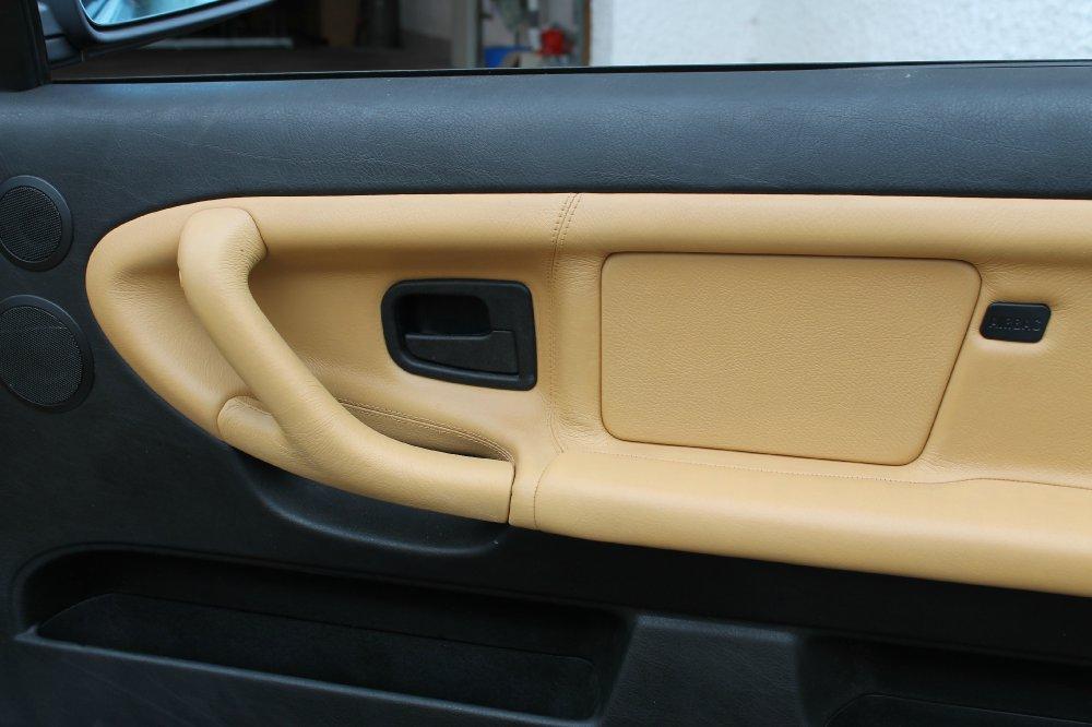 e36 cabrio lederaufbereitung safrangelb www bmw syndikat. Black Bedroom Furniture Sets. Home Design Ideas