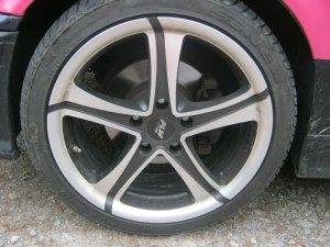 Proline (PLW) PXZ.8018 Felge in 8x18 ET 38 mit - NoName/Ebay - YS 618 Reifen in 225/40/18 montiert vorn mit 5 mm Spurplatten Hier auf einem 3er BMW E36 320i (Touring) Details zum Fahrzeug / Besitzer