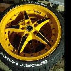 - NoName/Ebay - Typ09 Felge in 8.5x18 ET 37 mit Hankook  Reifen in 225/40/18 montiert hinten Hier auf einem 3er BMW E46 320td (Touring) Details zum Fahrzeug / Besitzer
