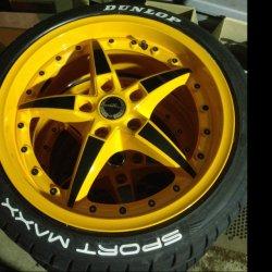 - NoName/Ebay - Typ09 Felge in 8.5x18 ET 37 mit Hankook  Reifen in 225/40/18 montiert vorn Hier auf einem 3er BMW E46 320td (Touring) Details zum Fahrzeug / Besitzer
