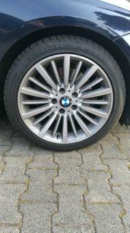 BMW BMW Alufelge Vielspeiche 416 Felge in 8x18 ET 34 mit Goodyear  Reifen in 225/45/18 montiert vorn Hier auf einem 3er BMW F30 328i (Limousine) Details zum Fahrzeug / Besitzer