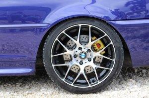 RH Felgen NBU Race Felge in 8.5x18 ET 35 mit Hankook s1 evo2 Reifen in 225/40/18 montiert hinten mit 10 mm Spurplatten und mit folgenden Nacharbeiten am Radlauf: Kanten gebördelt Hier auf einem 3er BMW E46 330i (Cabrio) Details zum Fahrzeug / Besitzer