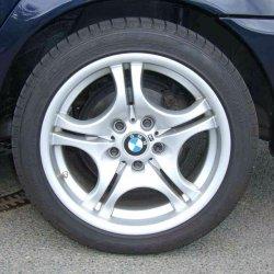 BMW M 68 Felge in 8.5x17 ET  mit Dunlop  Reifen in 245/40/17 montiert hinten Hier auf einem 3er BMW E46 316i (Limousine) Details zum Fahrzeug / Besitzer