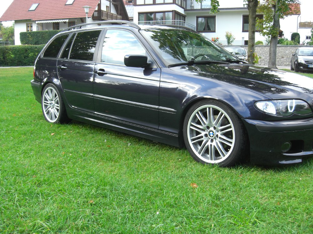bmw e46 320d touring mit performance felgen 3er bmw e46 touring tuning fotos. Black Bedroom Furniture Sets. Home Design Ideas