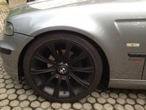 - NoName/Ebay - M166 Replica Felge in 8.5x18 ET 35 mit Michelin Pilot Sport PS2 Reifen in 225/40/18 montiert vorn Hier auf einem 3er BMW E46 323i (Cabrio) Details zum Fahrzeug / Besitzer