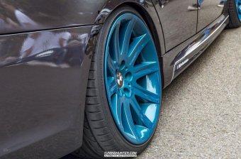 BMW Styling 95 Felge in 10x19 ET 24 mit Hankook V12 EVO 2 Reifen in 255/30/19 montiert hinten und mit folgenden Nacharbeiten am Radlauf: Kanten gebördelt Hier auf einem 3er BMW E90 330i (Limousine) Details zum Fahrzeug / Besitzer