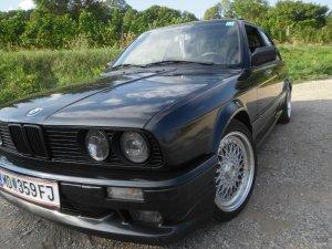 - NoName/Ebay - BSX Lenso Felge in 7.5x16 ET 38 mit - NoName/Ebay -  Reifen in 215/40/16 montiert vorn mit 15 mm Spurplatten Hier auf einem 3er BMW E30 325i (2-Türer) Details zum Fahrzeug / Besitzer