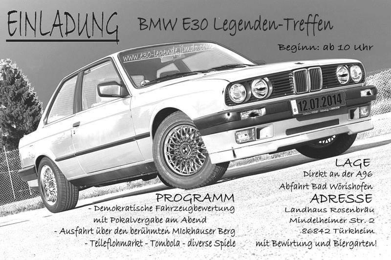 Das dritte e30-Legenden Treffen in Türkheim - Fotos von Treffen & Events