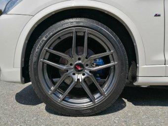 - Eigenbau - JapanRacing JR25 Felge in 8.5x20 ET 23 mit Nankang NS2 Reifen in 245/40/20 montiert vorn Hier auf einem X3 BMW F25 xDrive20d (SAV) Details zum Fahrzeug / Besitzer
