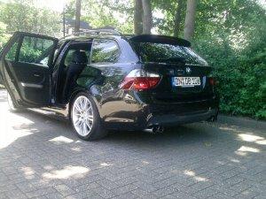 BMW 193 M Felge in 8.5x18 ET  mit Bridgestone Runflat Reifen in 255/35/18 montiert hinten mit 20 mm Spurplatten Hier auf einem 3er BMW E91 320i (Touring) Details zum Fahrzeug / Besitzer