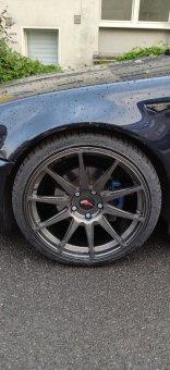 JR JR11 Felge in 8.5x19 ET 35 mit Hankook S1 evo² Reifen in 225/35/19 montiert vorn Hier auf einem 3er BMW E46 325i (Coupe) Details zum Fahrzeug / Besitzer