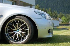 AEZ Antigua Felge in 8.5x19 ET 18 mit Hankook  Reifen in 245/35/19 montiert vorn Hier auf einem 5er BMW E60 525d (Limousine) Details zum Fahrzeug / Besitzer