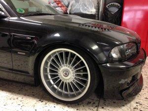 Alpina Classic II Felge in 9.5x19 ET 36 mit Vredestein  Reifen in 225/35/19 montiert vorn Hier auf einem 3er BMW E46 328i (Coupe) Details zum Fahrzeug / Besitzer