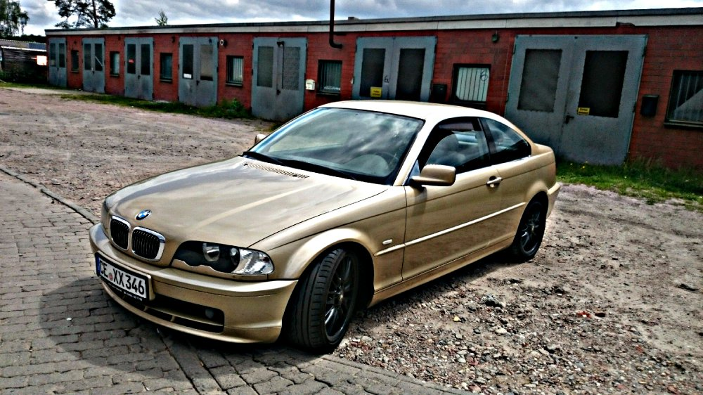 e46 coupe gold 3er bmw e46 coupe tuning fotos bilder stories. Black Bedroom Furniture Sets. Home Design Ideas