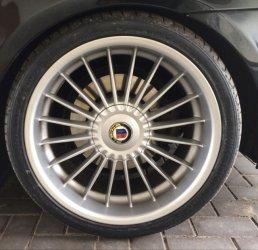 Alpina Classic II Felge in 9.5x19 ET  mit Hankook  Reifen in 275/30/19 montiert hinten mit 20 mm Spurplatten Hier auf einem 5er BMW E60 530i (Limousine) Details zum Fahrzeug / Besitzer