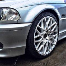 ASA Felgen Tec GT4 Felge in 8.5x18 ET 35 mit - Eigenbau - Achilles Supersport Reifen in 225/40/18 montiert vorn mit 5 mm Spurplatten Hier auf einem 3er BMW E46 320i (Coupe) Details zum Fahrzeug / Besitzer