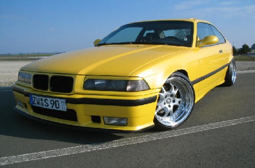 mein 3er neu in perl gelb 3er bmw e36 coupe tuning fotos bilder stories. Black Bedroom Furniture Sets. Home Design Ideas