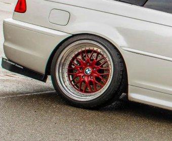 Kerscher CS Felge in 11x18 ET 19 mit Falken  Reifen in 245/35/18 montiert hinten mit 20 mm Spurplatten und mit folgenden Nacharbeiten am Radlauf: massive Aufweitung Hier auf einem 3er BMW E46 330i (Cabrio) Details zum Fahrzeug / Besitzer