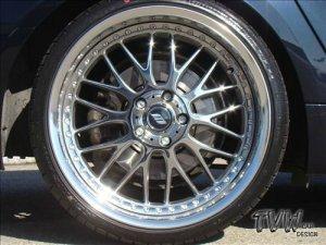 Work VS-XX 2D Chrom Felge in 11x20 ET  mit Falken FALKEN AZENIS FK-453 Reifen in 295/25/20 montiert hinten mit 20 mm Spurplatten und mit folgenden Nacharbeiten am Radlauf: Kanten gebördelt Hier auf einem 5er BMW E61 525d (Touring) Details zum Fahrzeug / Besitzer