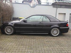 BMW styling 73 Felge in 7x17 ET 47 mit Hankook  Reifen in 205/50/17 montiert vorn Hier auf einem 3er BMW E46 330i (Cabrio) Details zum Fahrzeug / Besitzer