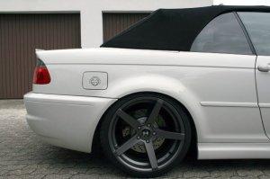 - NoName/Ebay - Z-Performance Six Felge in 9.5x19 ET 35 mit Hankook Ventus S1 Evo2 Reifen in 265/30/19 montiert hinten mit 15 mm Spurplatten und mit folgenden Nacharbeiten am Radlauf: Kanten gebördelt Hier auf einem 3er BMW E46 M3 (Cabrio) Details zum Fahrzeug / Besitzer