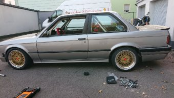 BBS E50 Felge in 8.5x16 ET 12 mit Toyo Tr1 Reifen in 215/40/16 montiert hinten Hier auf einem 3er BMW E30 325i (2-Türer) Details zum Fahrzeug / Besitzer