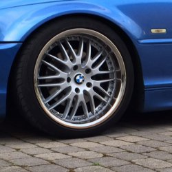 royal wheels GT20 Felge in 8.5x18 ET 35 mit Dunlop SP9000 Reifen in 225/40/18 montiert vorn Hier auf einem 3er BMW E46 320i (Cabrio) Details zum Fahrzeug / Besitzer