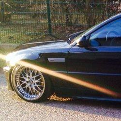 Work Rezax II Felge in 7.5x19 ET  mit Pirelli  Reifen in 225/35/19 montiert vorn und mit folgenden Nacharbeiten am Radlauf: Kanten gebördelt Hier auf einem 3er BMW E46 330d (Coupe) Details zum Fahrzeug / Besitzer