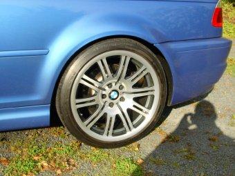 BMW  Felge in 9x19 ET  mit Michelin  Reifen in 255/35/19 montiert hinten Hier auf einem 3er BMW E46 M3 (Coupe) Details zum Fahrzeug / Besitzer